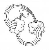 Bursting Clouds Vector Effects — Stock Vector