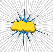 Comic Cloud Banner Vector Background — Vetor de Stock