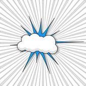 Vintage Cloud Burst Banner Vector — Stock Vector