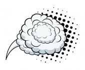 Halftone Chat Cloud — Stockvector