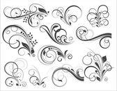 Retro Flourish Vector Designs — Stock Vector