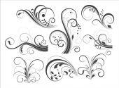 Retro Flourish Designs — Stock Vector