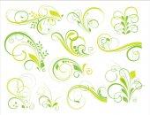 Conjunto de elementos florales — Vector de stock