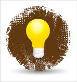 Bulb Icon Grunge Banner — Stock Vector