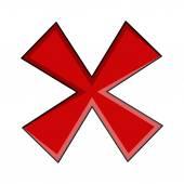 Vector Retro Cross Symbol — Stock Vector