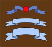 Vector Festival Ribbon Banners — Cтоковый вектор