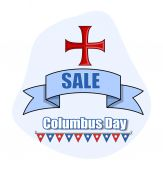 Columbus Day Vector Sale Banner Background — Stock Vector