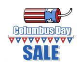Bomb Vector Columbus Day Sale Banner — Stock Vector