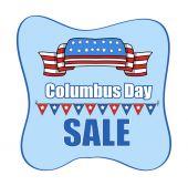 Columbus Day Sale Banner Vector — Stock Vector