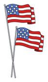America Flags Vector — Stock Vector