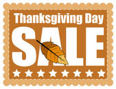 Thanksgiving Day Sale Graphic Banner — Stock Vector