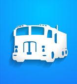 Truck Vector Shape — Stock Vector