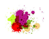 Abstract Colored Paint Drops — Stock Vector