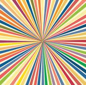 Colorful Rainbow Sunburst — Stock Vector