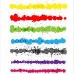 Colorful Splashes Strokes Vectors — Stock Vector #63382105
