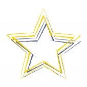 Images d'étoiles colorées — Vecteur