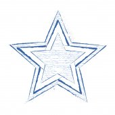Grunge Star Drawing — Vector de stock