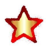 Golden Grunge Star Frame — Stockvektor
