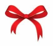 Christmas Ribbon Bow Vector — Stock Vector