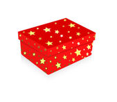 Christmas Stars Gift Box — Stock vektor