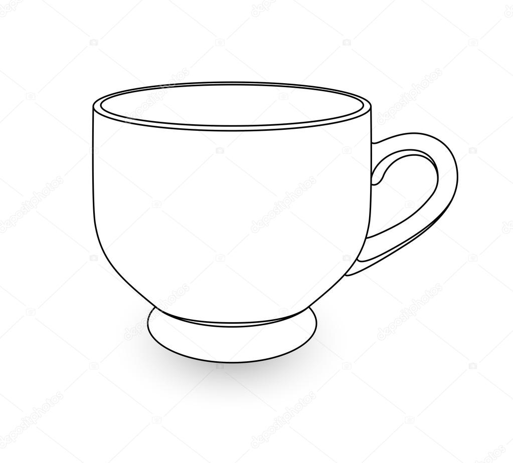 tea cup drawing stock vector  u00a9 baavli 63736507 tea clip art black and white team clip art images free