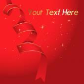 Holiday Ribbon Background — Vector de stock