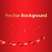 Holiday Ribbon Background — Stock Vector
