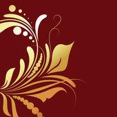 Golden Flourish Background — Stock Vector