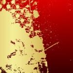 Grunge Halftone Golden Banner — Stock Vector #63776363