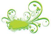 Grunge Texture Flourish Banner Vector — Vector de stock