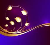 Ornate Golden Flourish Design — 图库矢量图片