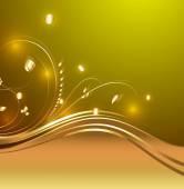 Bright Decorative Golden Flourish Design Elements — Stock Vector