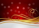 Golden Swirl Flourish Bokeh Graphic Background — Stock Vector