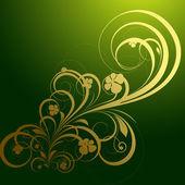Decorative Golden Floral Vector Background — Stock Vector