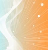 Wavy Lines Sunburst Background — Stock Vector