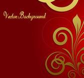 Golden Flourish Festive Background — Stockvector