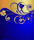 Royal Golden Floral Background — Stock Vector