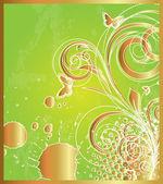 Grunge Floral Backdrop — Stock Vector