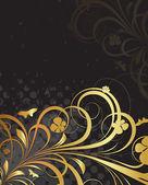 Golden Ornate Flora Texture Background — Stock Vector