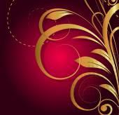 Decor Golden Floral Background — 图库矢量图片