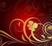 Golden Flourish Pattern Design — Stock Vector