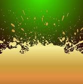 Golden Splash Background — Stockvektor