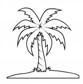 Palm Tree Shape — Stok Vektör