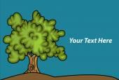 Ağaç manzara — Stok Vektör