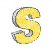 Scribble S Alphabet Vector — Stock Vector