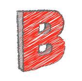 Scribble B Alphabet Vector — Stock Vector
