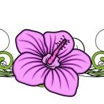 老式的粉红色的花分频器矢量 — 图库矢量图片 #64337319