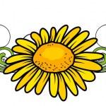 黄色的花分频器矢量 — 图库矢量图片 #64337537
