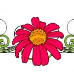 红色花矢量分频器 — 图库矢量图片 #64337635