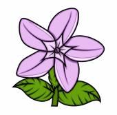Vecteur de rétro fleur sauvage — Vecteur